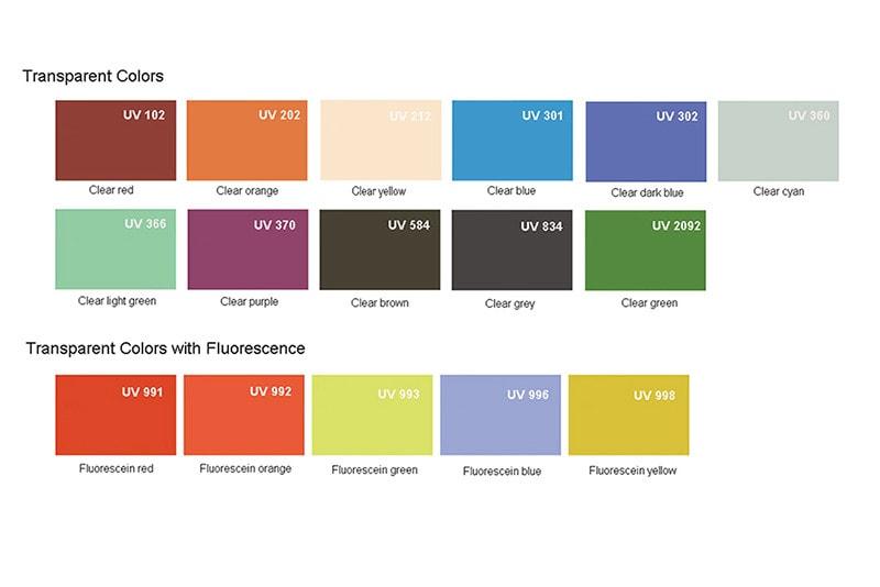 Plexiglass Transparent colors