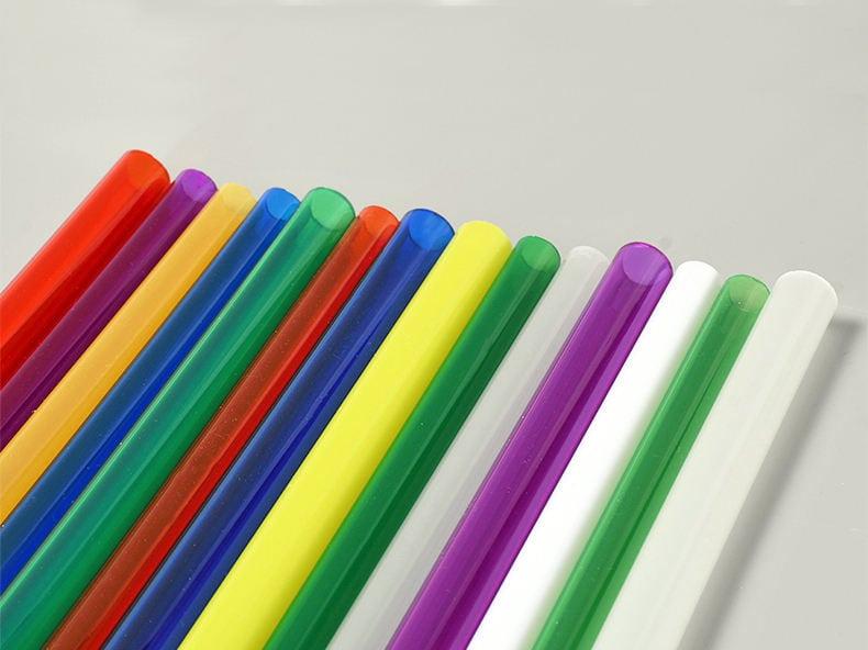 Colored Plexiglass Cylinder