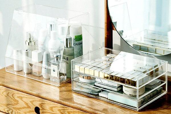 Makeup Organizer made of acrylic sheet