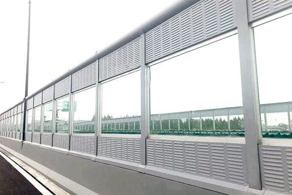 Noise Barrier made of plexiglass sheet