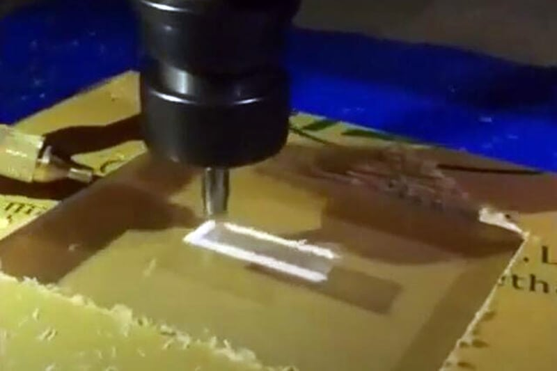 Milling acrylic surface