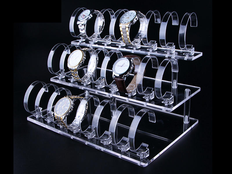 Acrylic Rod for Watches Display Stand