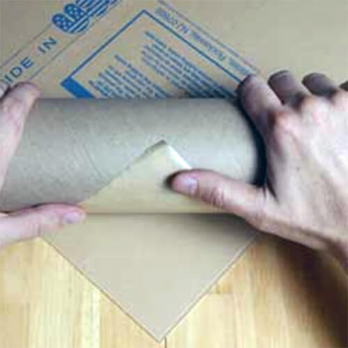 Using paper cylinder removes film of acrylic