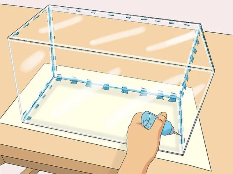 Glue acrylic Aquarium