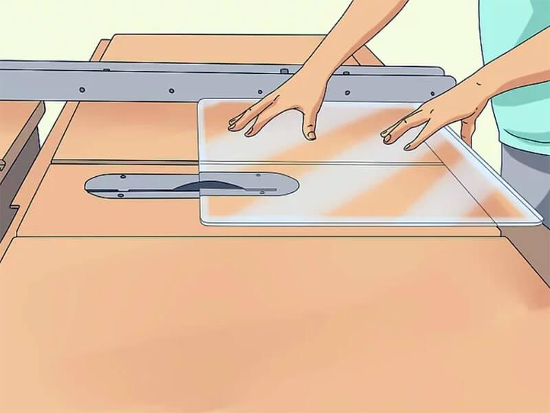 Cut acrylic sheet