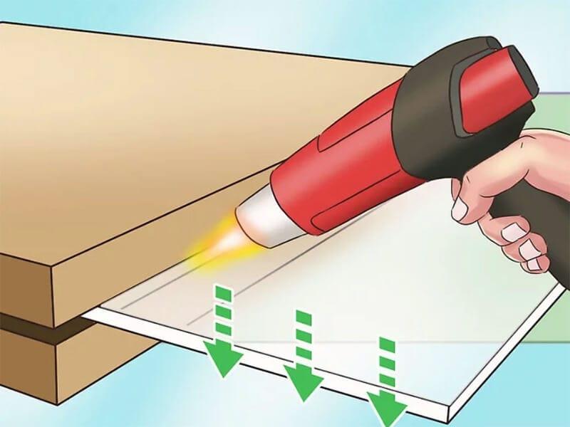 Heating acrylic sheet