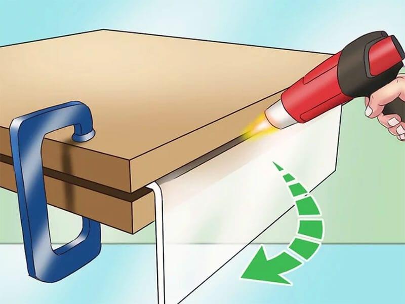 Bending acrylic sheet