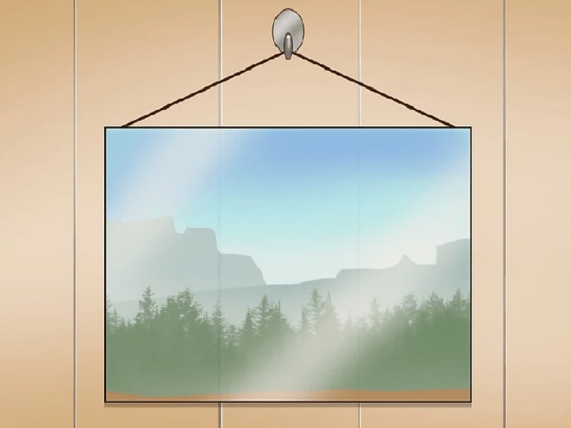 Picture frames with Hanging wire